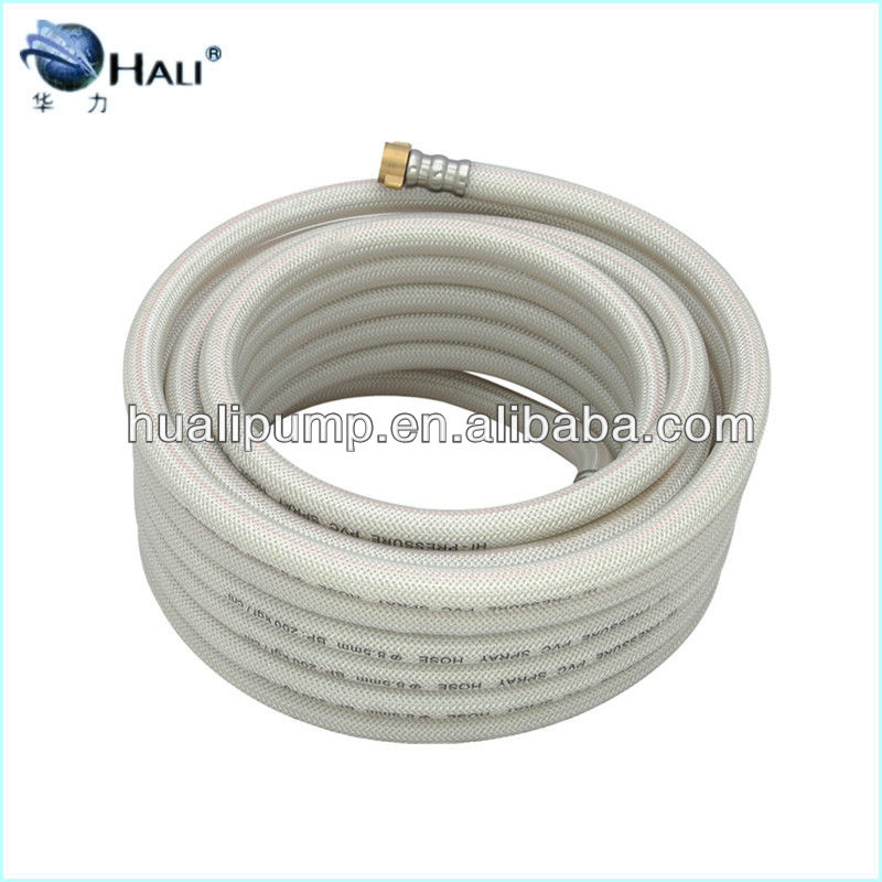 "Transparent PVC braided garden hose pipe 1/2"",5/8"",3/4"" for irrigation"