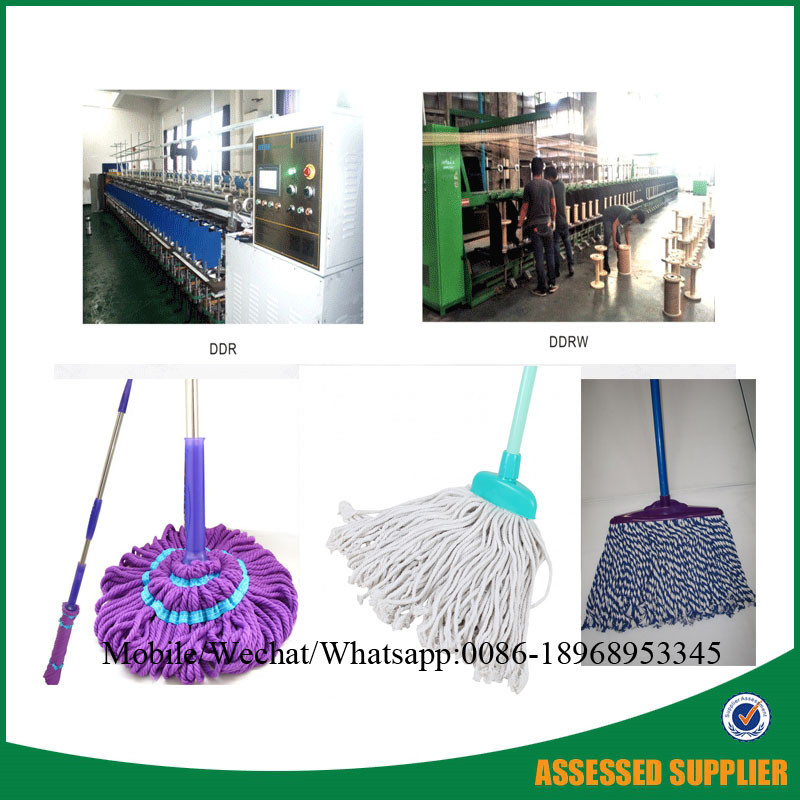 China supplier economic plastic mop yarn twisting making machine for pp yarn ring twisting machine mop yarn manufacture