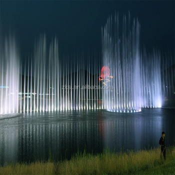 Large digital water music dance light fountain