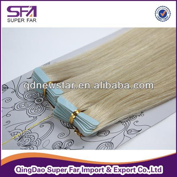 high quality indian hair tape extension,surgical tape hair