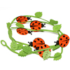 hot selling cute felt ladybird hanging ornaments from chinese supplier