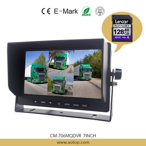 7inch Quad Monitor with DVR Function, DVR Max 128G SD Card