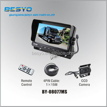 "HD 7""TFT Monitor with camera system,Truck and bus monitor rearview camera system BY-C08077MS"