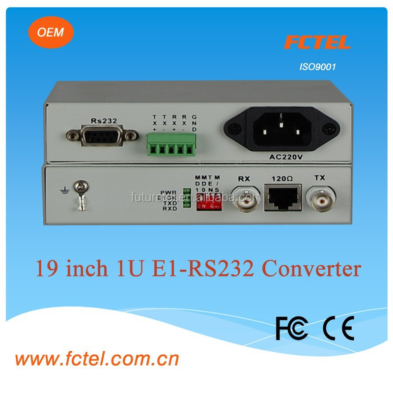 transmission digital signal E1 to rs232/422/485 interface/protocol converter, transceiver