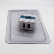Custom clamshell blister packaging/cheap transparent PVC blister for charger packaging