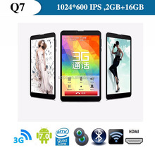 7'' 3G MTK6577 dual core tablet 1.0Ghz android 6.0 sim card slot phone call bluetooth ,Android Tablet PC