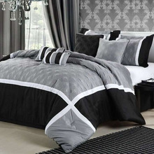 custom hot sale black comforter sets bedding