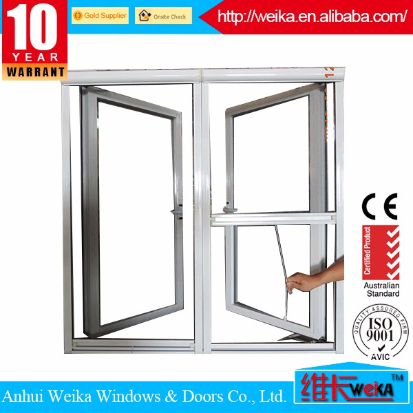 African Style Double Glazing French Aluminum Cheap Double Panels Casement Window