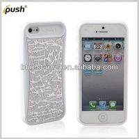 pc silicon case Factory Wholesale Hybrid PC Silicone Back Cover For Iphone5