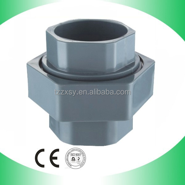 Grey PVC Pipe Fittings Universal Union Connector