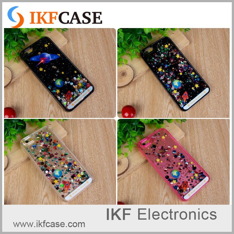 New Liquid Glitter Bling Star Sky Quicksand Phone Case For Apple iphone 4G 5G 6G 6 Plus