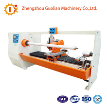 Stretch Film Rolls Pvc Tape Cutter Machinery Double Shafts Automatic Cutting Machine