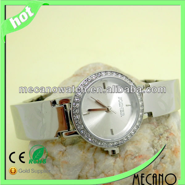Hot selling!!! Fashion ladies brass watch with Japan Quartz Movt 3ATM water resistant diamond watch