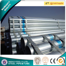 BridgeSteel Factory price construction pipe Hot rolled zinc coat round galvanized steel pipe steel tube