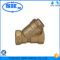 ISO approved forged CW617n strainer valve wholesale using for water and oil brass strainer valve in Mid eastern market