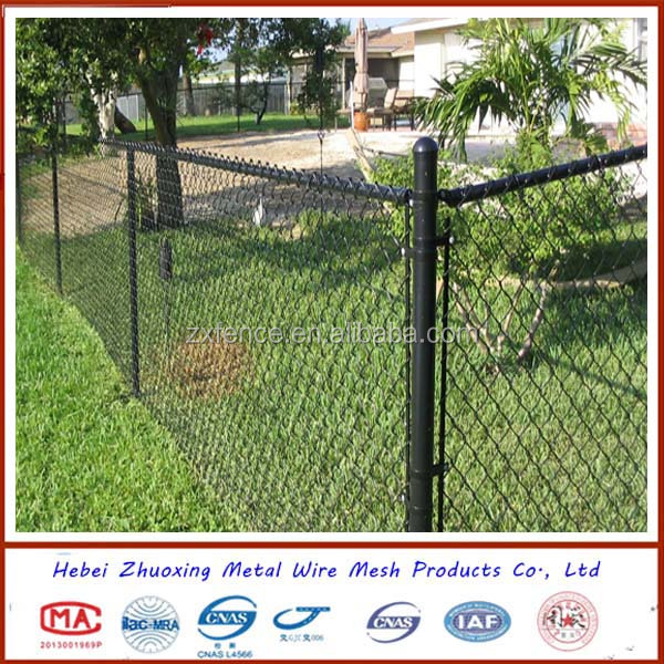 PVC or Galvanized chain link wire mesh garden fence