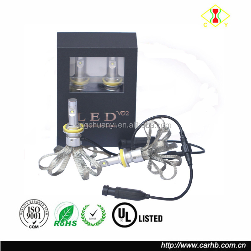 2017 the Newest 4800lm 40w fanless led headlight kit Car Driving Bulbs fast heat dissipation LED head lmap