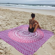 2016 china supplier home textile round towel wholesale rundies mandala