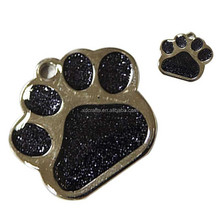 Stainless Steel Dog Paw Footprint Car Decal Bumper Sticker 3D PVC Sticker
