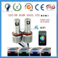 20W RGBW Canbus Error Free Angel Eye LED Bulb for BMW H8 E92 lamp replacement