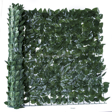 artificial leave chain link fence