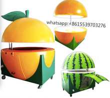 2017 New Style Street Orange Shape Fast Food Kiosk,Outdoor Mobile Food Cart For Sale