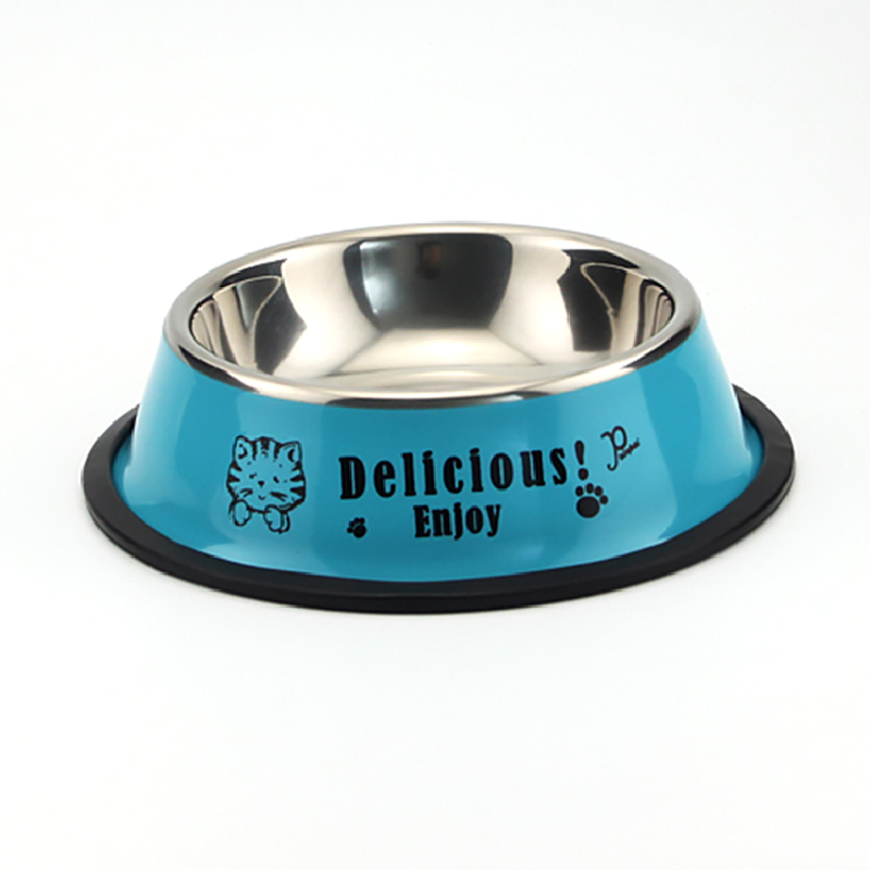 Brand new colorful waterproof pet dogs feed bowl