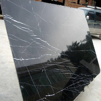 Landscape black Marble Tiles and Slabs,black marble tile with white veins,marble slab