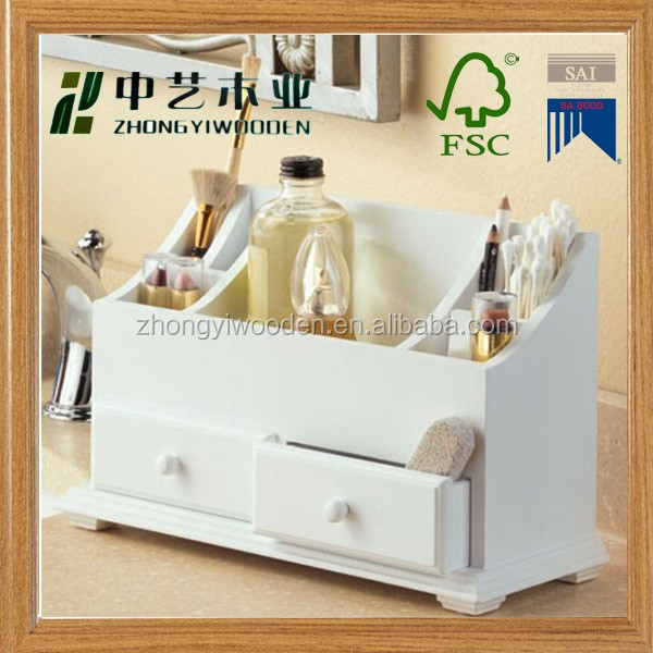 Trade assurance high quality new design Multi-function bamboo wooden desk organizer