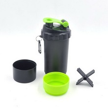 customised best workout water plastic clearshaker water bottle with private label