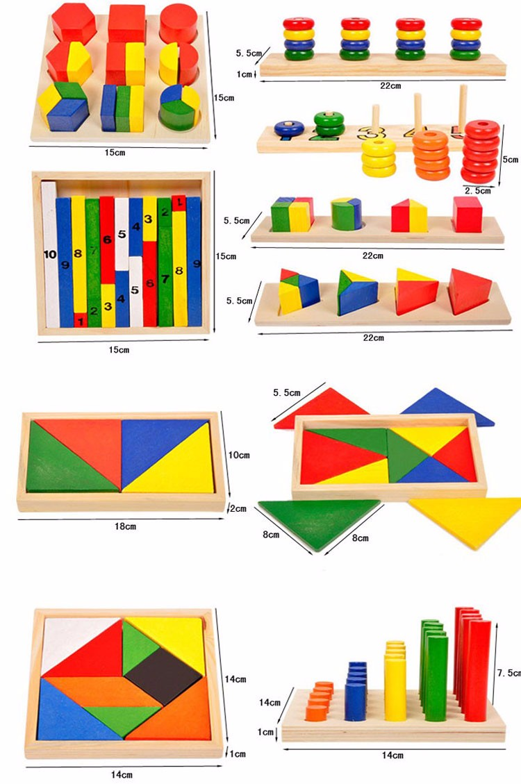 Montessori Aids Early Learning Toys Wooden Educational Kids Toy Montessori