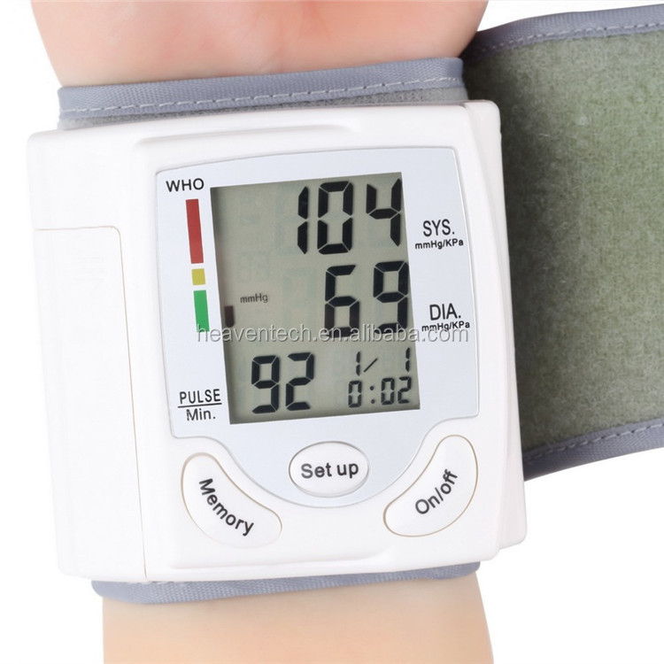 Wrist Watch Electronic Sphygmomanometer Digital LCD Electronic Blood Pressure Monitor