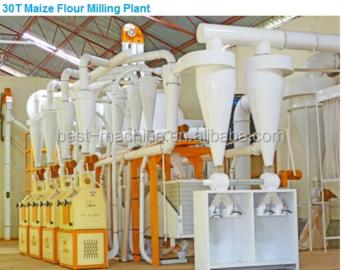 50T/Day maize flour Production Line Corn grits Mill Plant cereal Grain Crusher grinding machine