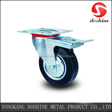 Solid rubber tyre wheel castor roller bearing industrial casters wheels