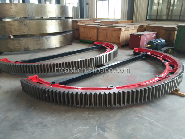 Heavy casting half ring gear for ball mill