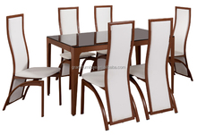 modern dining room furniture high gloss tempered glass dining table set