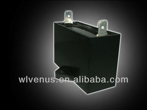 black plastic case square type cbb61 12uf run capacitor