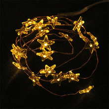 Christmas Decorative 2M 20 Bulbs Battery Operated Fairy Led Copper Wire String Light