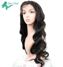 100% natural human hair front lace wig long 30 inches density