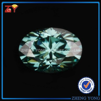 Oval Cut 5x7mm 1 Carat Green Synthetic Moissanite Price