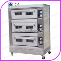 Hot selling 3 decks baking oven in bakery machine