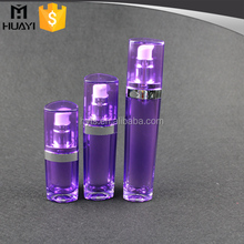15ml 30ml 50ml triangle shape acrylic colored cosmetic airless pump bottle