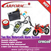 2 way Wholesale motorcycle security alarms system waterproof voice motorcycle alarm system/CFMC09