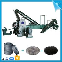 Energy Recycling Used tire rubber powder making plant_Waste car tire crusher machine