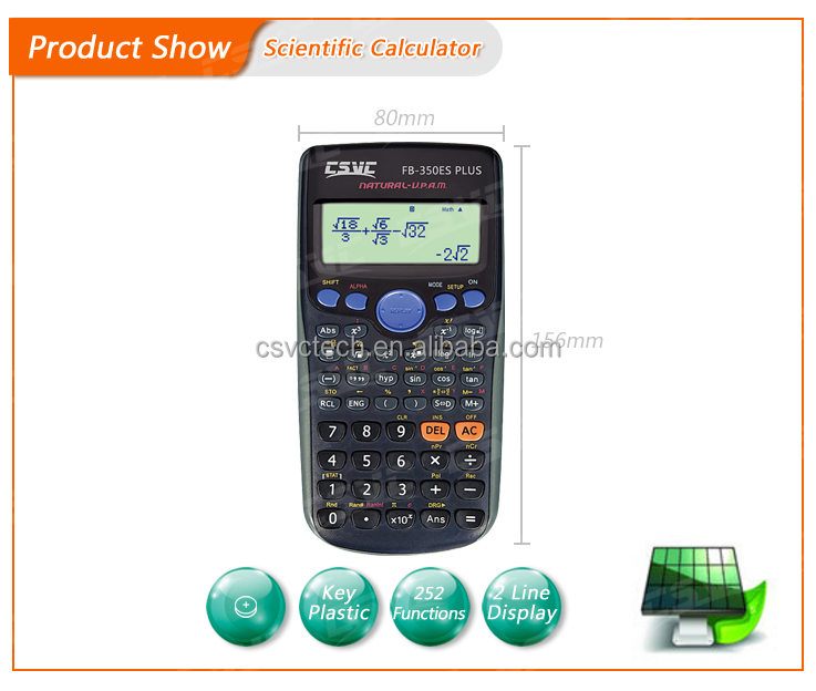 Custom made 12-digit scientific calculator