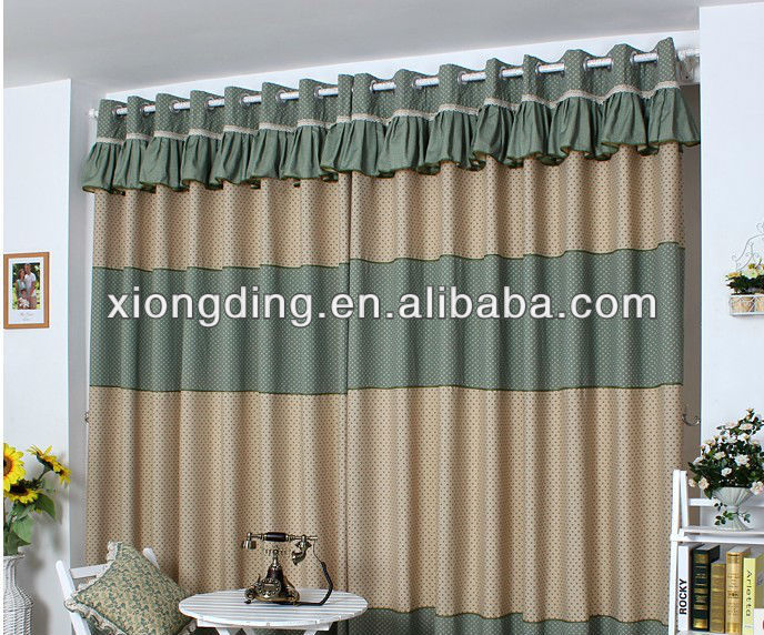 Fashion patchwork curtains wholesale and manufacture