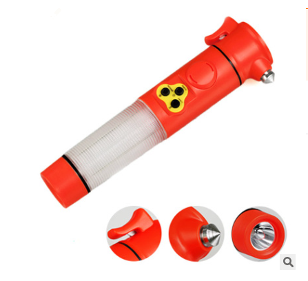 5 in 1 Multi-functional Emergency Break Glass Hammer Auto Led Flashlight Safety Escape Hammer