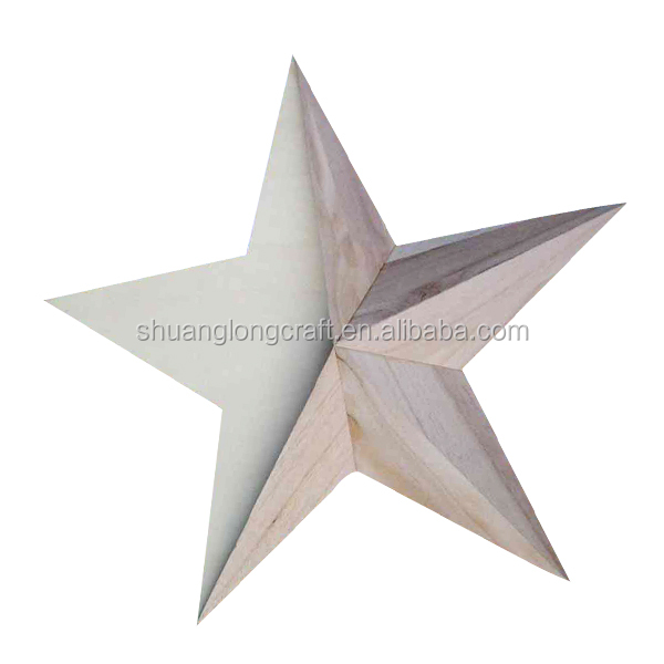 Chirstmas wooden decorative star,ceiling hanging christmas decorations