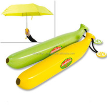Funny Creative Banana Umbrella Portable Anti-UV Case Foldable Umbrella Gift