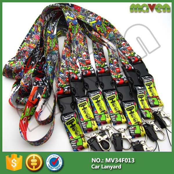 racing jdm bomb Lanyard Retractable id badge Car Motorcycle sports teams lanyards